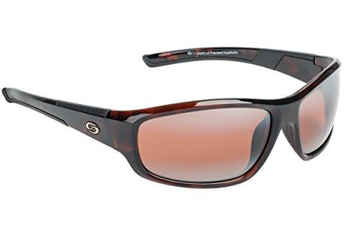 Strike King S11 Optics Shiny Brown Tortishell Full Frame Sunglasses with Polarized Dark Amber Brown - King Sunglasses Strike Polarized