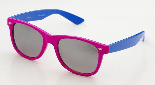 80's Classic Blue Brothers Neon Color Wayfarer Styles Vintage Retro Sunglasses in - Sunglass 80