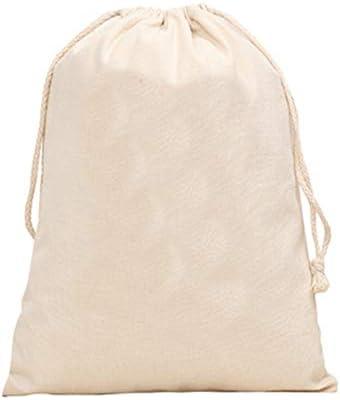 巾着袋 ドローポケット キャンバス 無地 ショッピングバッグ 収納バッグ 男女兼用 便利 人気 レジャー 旅行 10枚セット (16 * 18cm)