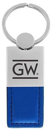 LXG, Inc. The George Washington University - Leather and Metal Keychain - Blue