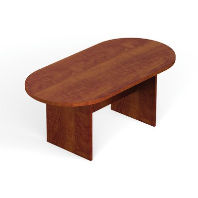 Offices to Go 8' Racetrack Conference Table with Slab Base - American Mahogany by Offices To Go