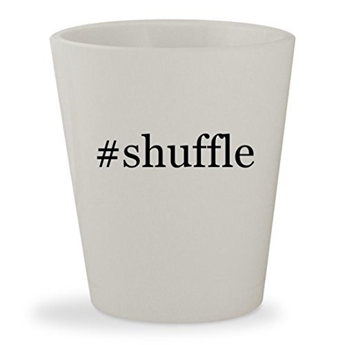 Price comparison product image shuffle - White Hashtag Ceramic 1.5oz Shot Glass