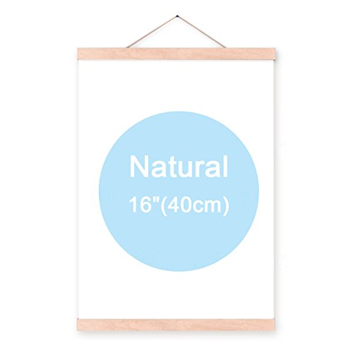9 inch magnet self assembly 22.86cm Walnut Wooden Poster Hanger