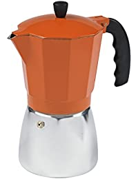 Imusa, B120-43O, Aluminum Coffeemaker, 6-Cup, Orange Explained