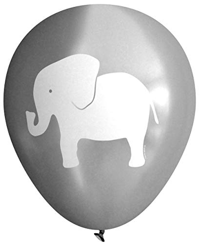 Elephant Balloons (16 pcs) by Nerdy Words (Grey)]()