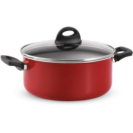 Tramontina 80149/564DS 5-Quart EveryDay Non-Stick Covered Dutch Oven, Red by Tramontina by Tramontina
