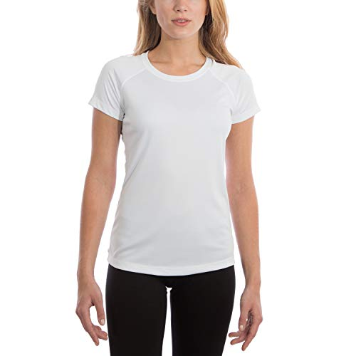 Vapor Apparel Women's UPF 50+ UV Sun Protection Performance Short Sleeve T-Shirt Small White
