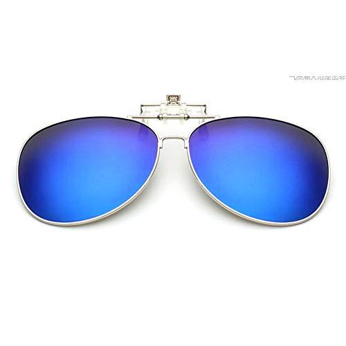 Anti UV Bleu Cadre Désign éblouissement soleil Lentille Lunettes Clip Des Aviator Protection Meijunter Flip lunettes on de Classique clipsables up RHPnxvq