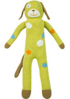 Blabla Lemonade The Dog Plush Doll - Knit Stuffed Animal for Kids. Cute, Cuddly & Soft Cotton Toy. Perfect, Forever Cherished. Eco-Friendly. Certified Safe & Non-Toxic.