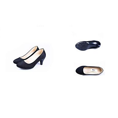 Trabajo Mujer Negro Cono Descubierto Verano ggx Vestido Primavera Tejido Formales 7 Cms Tacones Black Lvyuan 5 Y Zapatos Tacón Talón Oficina fFqwp75
