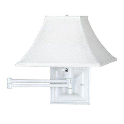 19 Inch Swing Arm Lamp (White Kingston Swing arm Lamp, WHITE, WHITE)