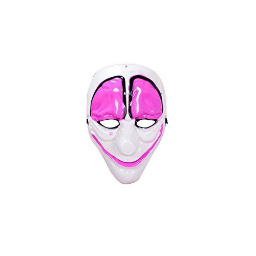 HOBOYER Novelty Halloween Mask Laser Cut Clown Mardi Gras Christmas Halloween Party Cosplay Mask for Adults (Red Head (red)