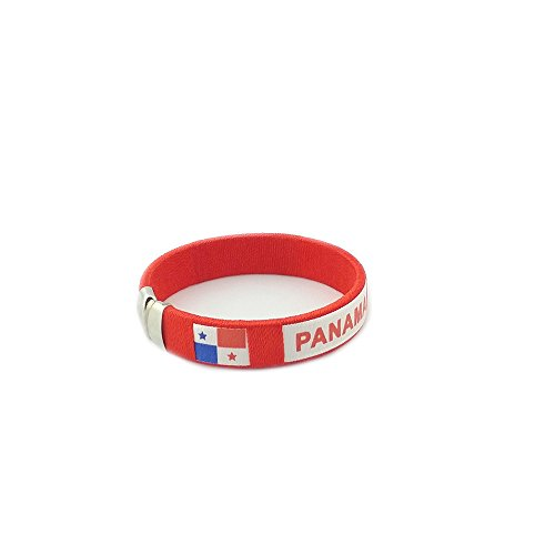 Amana Countries of the World Flag C Bracelets Wristbands (Panama - Red)