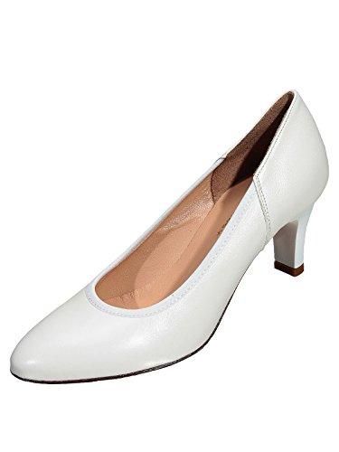 Marion Spath Damen 333-047 Glattleder Komfort-Brautpumps Weiß