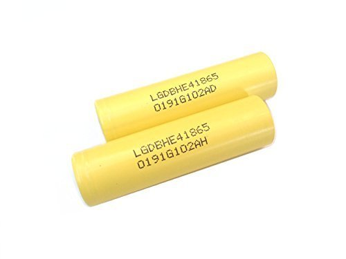 2 Authentic 18650 LG HE4 High Drain Flat Top/2500mAh 35A Li-Ion Rechargeable Battery
