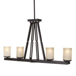 Alta Loma 4-Light 72-3/4 in. Dark Ridge Bronze Island Light Dark Ridge Bronze