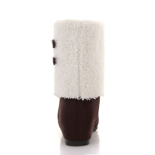 Charme Voet Mode Dames Hoge Top Sneeuwlaarzen Winterlaarzen Bruin