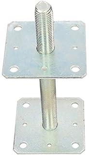 L/änge 30 cm feuerverzinkt Bodenplatte 150x150 mm Gewindefu/ßplatte /Ø 38 mm