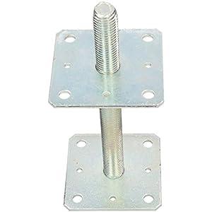 KOTARBAU® Supporto per pali 110x110x250 mm regolamentato filettatura per recinzioni travi in legno zincato Manicotto di… 31ewSQUCibL. SS300