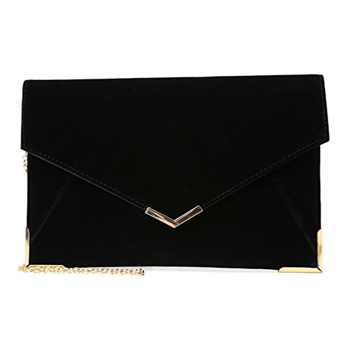 Wedding Ladies Evening Party Women Clutch Handbag Leather Fashion Envelope Bag HOT Black Purse c5EYw4qW