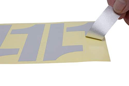Address America 44 Reflective 4'' Numbers Peel & Stick by Address America (Image #3)