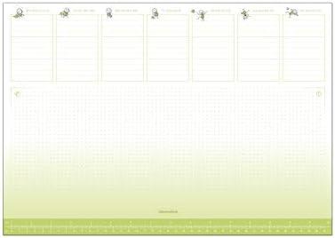 Schreibtischunterlage DIN A3 Format, 25 Blatt Papier zum abreissen, Premium Offsetpapier