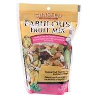 Sun Seed Company BSS59205 Fabulous Fruit Mix Parrot Treats Pouch, 12-Ounce