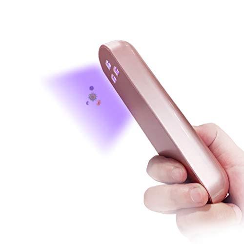 Lampara UV para desinfeccion, solo 10 segundos, rapida, UVC a mano, desinfeccion, baqueta recargable, profunda UV, esterilizador, varita para la casa, hotel, oficina, escuela, etc.