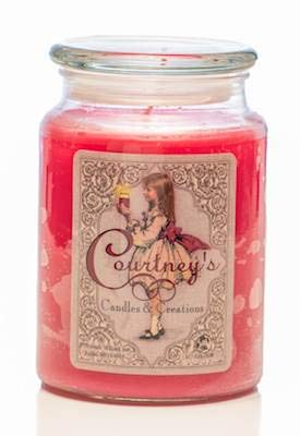 Courtney's Candles Cranberry Orange Spice Maximum Scented 26oz Large Jar Candle