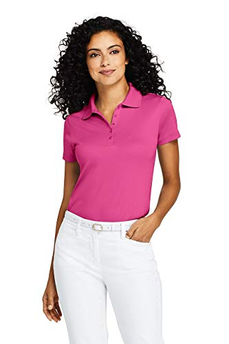 (Lands' End Women's Supima Cotton Short Sleeve Polo Shirt)
