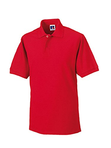 Russels Workwear - Polo -  - Polo - Col polo - Manches courtes Homme -  Rouge - Bright Red - X-large
