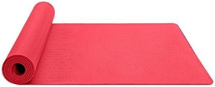 Eco friendly ヨガマットストラップ183センチメートルロングX61cmでヨガフィットネスとエクササイズマット厚さ6mmワイド exercise (色 : Red)