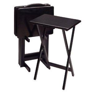 Wood 5 Pc. TV Tray Set U0026#45; ...