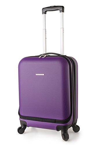 TravelCross Boston 21'' Carry On Lightweight Hardshell Spinner Luggage - Purple