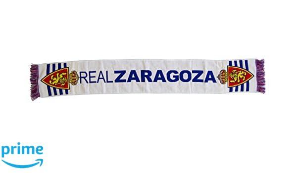 Real Zaragoza Bufzar Bufanda Telar, Blanco/Azul, 130 x 20 cm: Amazon.es: Deportes y aire libre