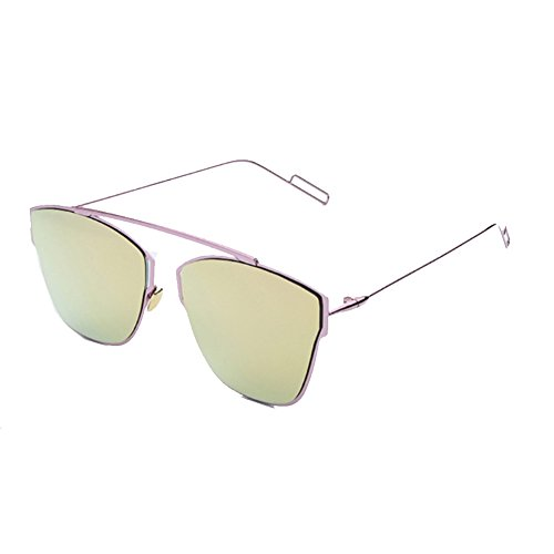 Sinkfish SG80058 Sunglasses for Womenfashion Non-Polarizer - UV400/Pink Frames/Darkkhaki Lens