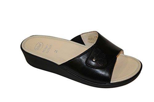Velcro in Donna SCHOLL Nero Pelle Marietta Ciabatta DR con ptd0xwIqdS