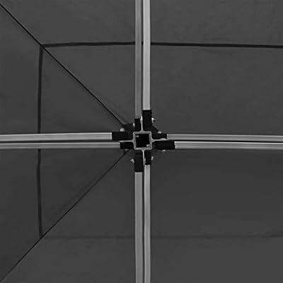 vidaXL Carpa Plegable Profesional con Paredes Aluminio Cenador Pagoda Pérgola Fiestas Celebración Estructura Recintos Parasoles 6x3 m Gris Antracita: Amazon.es: Hogar