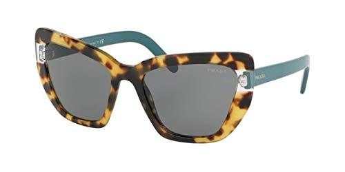 (Sunglasses Prada PR 8 VSF 4726Q0 MEDIUM HAVANA/TRANSPARENT)