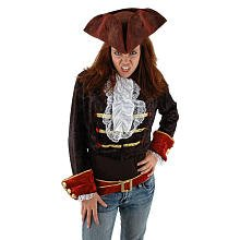 [Elope Scallywag Blood Red Hat] (Scallywag Pirate Costume)