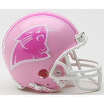 Panthers Carolina Helmet Riddell Replica (Riddell Carolina Panthers Pink Replica Mini Helmet - Carolina Panthers One Size)
