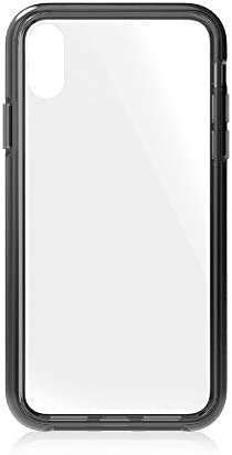 Simplism iPhone XS/X対応 [GLASSICA] 背面ガラスケース(Solid color) クリア + ブラック