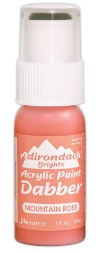 Ranger Adirondack Paint Dabbers 1 Ounce Bottle, Brights/Mountain Rose by Ranger