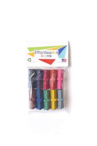 Effortless Art Crayons 10 Pack Eco-Friendly Adaptive Grip Crayons