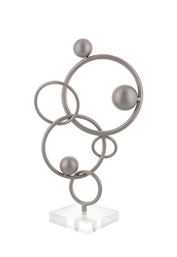 Deco 79 56940 Iron Acrylic Circular Spherical Abstract Sculpture, 17