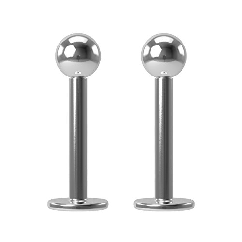 8mm 5/16' Monroe Cartilage Tragus Lip Piercing Studs 16G x 2 set Surgical Steel Jewelry by BLING UNIQUE