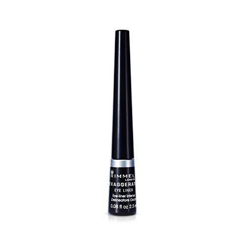 (Rimmel Exaggerate Felt Tip Eye Liner, Black - Easy Precise Application Long Lasting Felt Tip Liquid Eye Liner Pen)