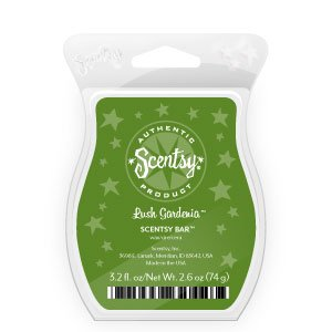 1 X Lush Gardenia Scentsy Bar Wickless Candle Tart Warmer Wax 3.2 Fl Oz, 8 Squares by Scentsy