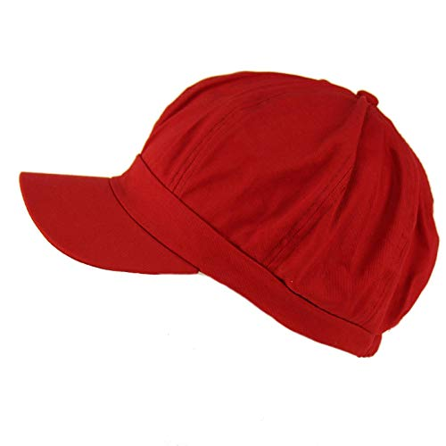Summer 100% Cotton Plain Blank 8 Panel Newsboy Gatsby Apple Cabbie Cap Hat -