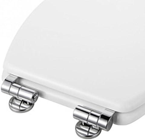 ACAMPTAR 合金交換用便座ヒンジ取付金具セットクロムトイレットアクセサリー用付属品ネジ付き